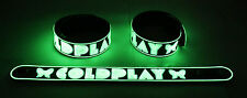 Coldplay NEW! Glow in the Dark Rubber Bracelet Wristband Paradise gg189