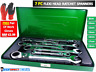 7 Piece Flexible Combination Spanners Ratchet Wrench Tool Set 8-19mm 8-14