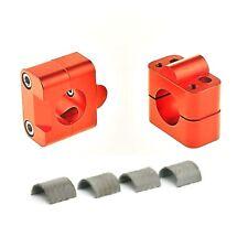 2 Pontets de guidon moto universel soko 28.6mm et 22,2mm orange