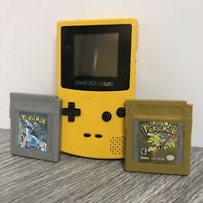 Gameboy Color With Authentic Versions Of Pokemon Gold And Silver. New Batteries