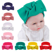 8pcs Baby Girls Newborn Headbands Bows Toddlers Knotted Hairbands Soft Headwrap