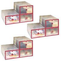9x Schuhaufbewahrung Kunststoffbox Transparent |  Aufbewahrungsbox Stapelbar