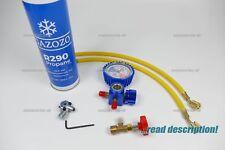 R290 REFRIGERANT FRIDGE FREEZER REFILL RECHARGE TOPUP GAS DIY CAN TOOL
