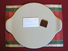 """New Pampered Chef Large 15"""" Round Pizza Cookie Stone with Handles #1371 Retired"""