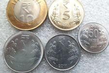 India  2011 year set : 1 - 10 rupees , 50 paisa  UNC