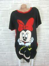 Blogger Sommer Kleid Tunika Long Shirt Print 38 40 42 Schwarz Rot K232 Italy