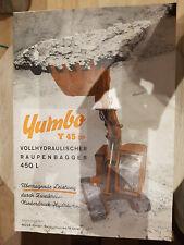 Prospektblatt Sales Brochure Yumbo Y 45 DP Raupenbagger 450 L Technische Daten