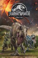 JURASSIC WORLD - DINOSAUR GROUP - MOVIE POSTER - 22x34 - 16692