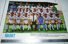 CLIPPING POSTER FOOTBALL 1987-1988 CHAMOIS NIORTAIS NIORT