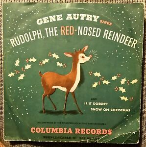 GENE AUTRY sings RUDOLPH the RED NOSED REINDEER - 1949 Columbia MJV-56 with P.S.