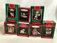 Lot of 7 Hallmark Keepsake Christmas Ornaments All in Original Boxes