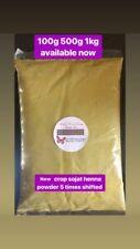 100g (5xSifted ) Natural Organic Rajistani Henna Powder Mehndi Powder Sojat