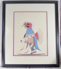 Fancy Dancer Orig Signed 1983 Painting by Artist Geo. Geionety, Comanche/Kiowa