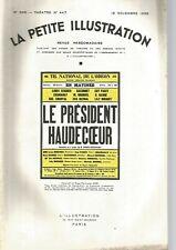 LA PETITE ILLUSTRATION N°447 - LE PRESIDENT HAUDECOEUR - ROGER-FERDINAND