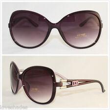 New Women DG Sunglasses Fashion Designer Shades Eyewear Purple Large Vintage UV