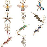 Charm Rhinestone Crystal Keyring Pendant Purse Bag Key Ring Chain Keychain Gifts