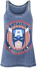 Marvel Comics Retro Female Shirt Captain America Stars Anf Stripes Tankfemale SH XL