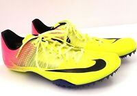 Nike Zoom Celar 5 Mens Size 11.5 Track Sprint Pink Volt Cleats Shoes 882023-999