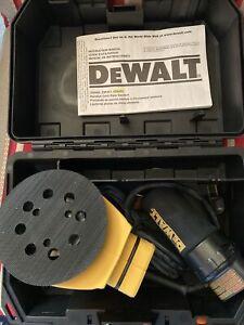 "DeWALT D26453 5"" Corded Variable Speed Random Orbit Palm Sander Case & Manual"
