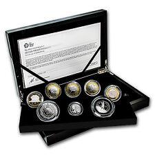 2016 Great Britian 8-Coin Silver Piedfort Proof Set - SKU #95492