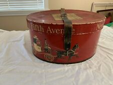 Vintage Dobbs Fifth Avenue Red Hat Box New York Bullock's Men's Los Angeles