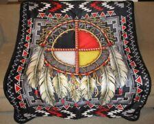 New Medicine Wheel Sherpa Plush Throw Gift Blanket Dreamcatcher Southwest SOFT