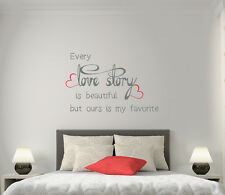 Wall Decals Every Love Story Is Beautiful Quotes Vinyl Sticker Love Decal AA82