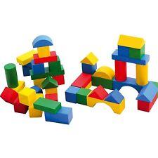 Childrens 75pc Wooden Building Blocks Kids Construction Toy Bricks Set Creative