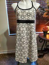 Soybu Dress Stretch Athletic Travel Shelf Bra Sport Black/White Womens Sz L