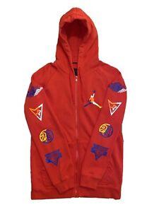 Air Jordan Fire Red Full Zip Mens Hooded Jacket Size Small