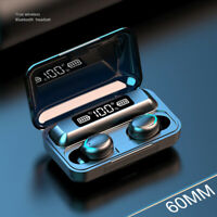 Wireless 5.0 Headset Wireless Earphones Mini Stereo Headphones LED Earbuds.