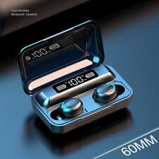 Wireless 5.0 Headset Wireless Earphones Mini Stereo Headphones LED Earbuds.