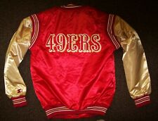SAN FRANCISCO 49ERS Starter Throwback Snap Down Jacket S M L XL 2X RED/GOLD