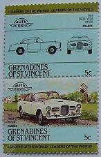 1959 FACEL VEGA HK500 voiture timbres (les dirigeants du monde / auto 100)