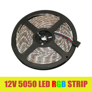 LED Strip Light DC 12V RGB SMD 5050 Flexible Diode Ribbon Tape 1M 5M Lighting