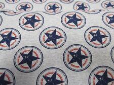 Jersey Sommer Sweat - Sterne - 150 cm - blau grau