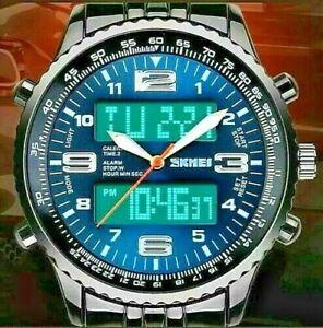Men's Military Watch Date Quartz Digital & Analog Army Casual Dress Wrist Watch