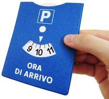 DISCO ORARIO MADE IN ITALY PARCHEGGIO ORA DI ARRIVO IN GOMMA CON CUCITURE
