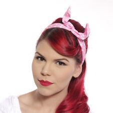 Bunny Ear Polka Dot Headband Scarf in Black, Navy Blue, Turquoise, & Pink