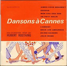 "HUBERT ROSTAING ""DANSONS A CANNES"" POP JAZZ 60'S EP"