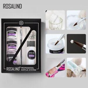 Acrylic Powder Set Nail Kit 3 Colors Carving Nail Art Extensions Manicure Tools