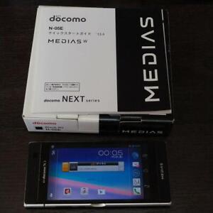 NEC MEDIAS W N-05E docomo Dual Screen Android 4.1 Smartphone Black w/Box JAPAN
