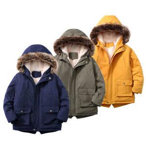 Winter Kids Girls Boys Warm fashion Coat Parka Outwear Jacket Coats Hooded Down