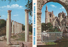 CYPRUS POSTCARD FAMAGUSTA SAINT NICHOLAS CATHEDRAL SALAMIS MARBLE FORUM 1962
