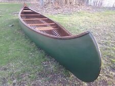 1929 Old Town H. W.  Model Canoe 17' wood canvas Nice professional Restoration