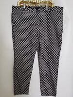 GAP Woman's Blue White Geometric Design Skinny Cropped Pants Size 18R