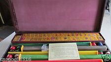 Vintage Catalin Mah Jong Set w/case & 164 Matching Tiles