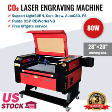 New Listing80w 28 20 Co2 Laser Engraving Engraver And Cutter Machines Red Dot Point