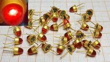 Diode LED RED colour - old - metal base GOLD PLATED CQDP-40 [072]