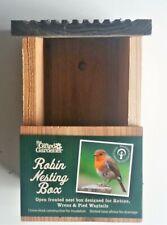 More details for bird box robin wren wagtail small bird wooden nesting box